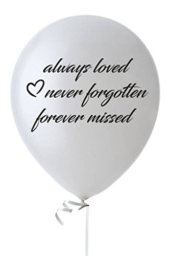 Biodegradable Funeral Balloons- 25 White Elegant Memorial Balloons- Remembrance White Balloons- Memory Table Décor- 12
