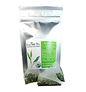 Organic Dragon Well , a classic Chinese Green tea distinguished by its color , shape and taste 16 tea bags