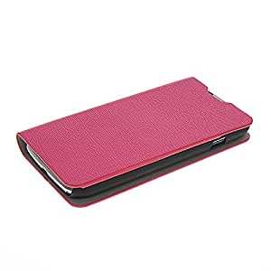 Flip Leather Wallet Card Pouch Stand Back Case Cover For LG L90 Dual D410 Hotpink