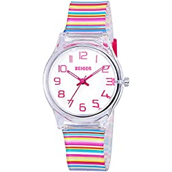 Zeiger Cool Display Easy Read Time Teacher Teen Young Girls Children Kids Watches Resin Band(Colorful)