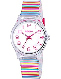 Cool Display Easy Read Time Teacher Teen Young Girls Children Kids Watches Resin Band(Colorful · Zeiger