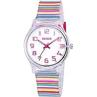 Zeiger Kids Relojes Moda Niñas Lovely Estudiante reloj correa de resina