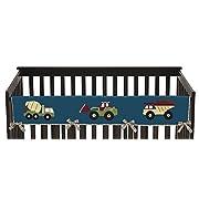 Sweet Jojo Designs Construction Zone Trucks Long Front Rail Guard Baby Teething Cover Crib Protector Wrap