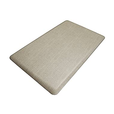 NewLife by GelPro Designer Comfort Mat, 18 by 30-Inch, Grasscloth Pecan