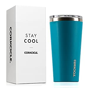 Corkcicle Tumbler-Waterman Collection-Triple Insulated Stainless Steel Travel Mug, 16 oz, Biscay Bay