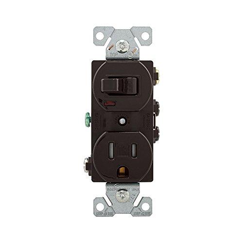- EATON TR274B Arrow Hart Tr274 Duplex Combination Switch/Receptacle, 2 P, 3 Wire, 15 A, 120 V