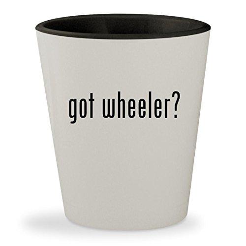 got wheeler? - White Outer & Black Inner Ceramic 1.5oz Shot - Glasses Archibald