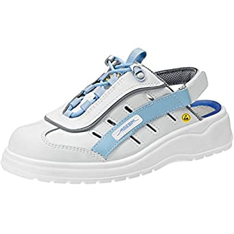 Abeba Herren Sicherheitsschuhe mehrfarbig Weiß/Hellblau 39