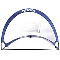 Panna Pop-up Soccer Foldable Goals (Pair) - Set of 2 Twistable Portable Goals with Carry Bag. (4 FT x 6 FT)