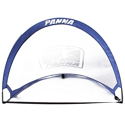 Panna Pop-up Soccer Foldable Goals (Pair) - Set of 2 Twistable Portable Goals with Carry Bag. (4 FT x 6 FT) 022 by Panna Ole