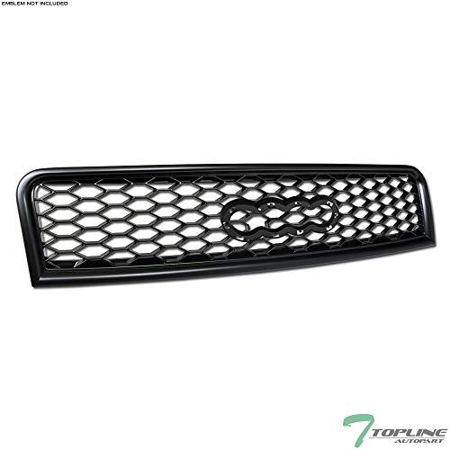 Topline Autopart Matte Black RS-Honeycomb Mesh Front Hood Bumper Grill Grille ABS For 02-05 Audi A4 ; 04-05 S4 B6