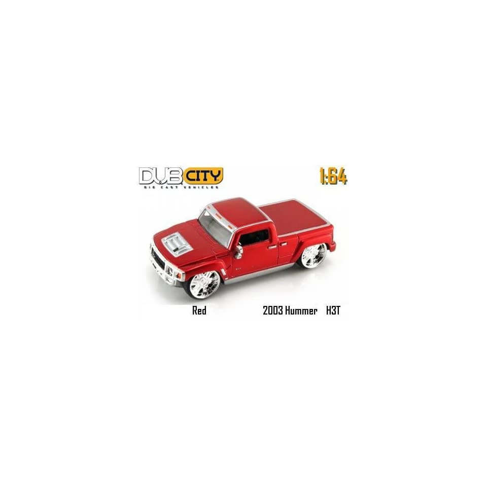 Jada Dub City Kustoms Candy Red Hummer H3T Concept 164 Scale Die Cast Car
