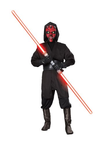 Darth Maul Costume Makeup (Darth Maul Deluxe Men's Costume XL (44-46))