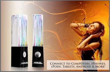 Water Dancing Speakers Black by Leading Edge Novelty