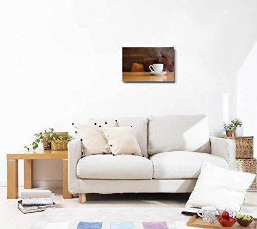 Closeup of White Ceramic Coffee Cup Wall Decor