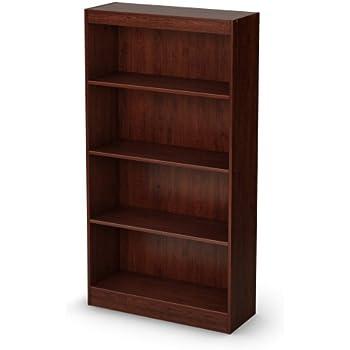 sauder beginnings 3 shelf bookcase in cinnamon. Black Bedroom Furniture Sets. Home Design Ideas