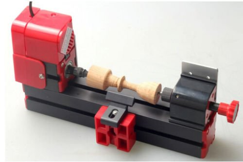 ELEOPTION 24W Mini Set Wood-turning Lathe Machine Wood Engraving Machine 20000r/min Tool