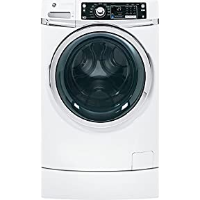 GE GFWR2700HWW RightHeight Design 4.5 Cu. Ft. White With Steam Cycle Front Load Washer - Energy Star
