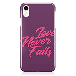 Loud Universe Phone Case For iPhone XR Love Phone Case Love Never Fail Phone Case Pink And Purple 3D iPhone XR Cover