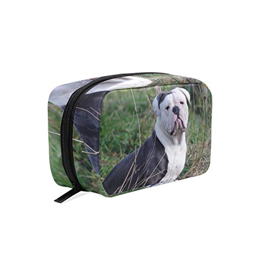Cosmetic Makeup Bag Pouch Dog Animal Canine Pet Sitting Clutch -