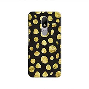 Cover It Up - Black Pale Gold Pebbles Moto M Hard case