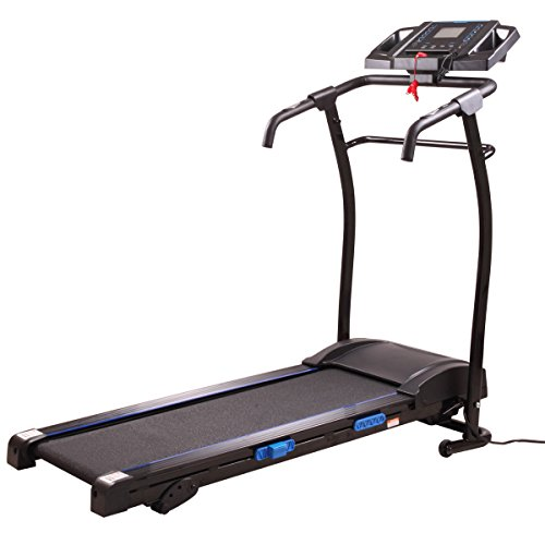 JAXPETY 1500W Folding Electric Treadmill W/LCD Display Motorized Running Machine Black