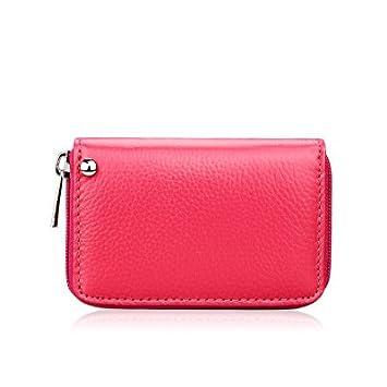 Zip covers Rosa Roja: Fashion Lady – Soporte de plástico para Tarjetas de Mujer,