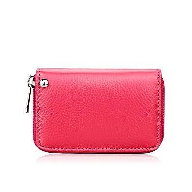 ZipCoV Rose Red: Cartera de plástico para Mujer con ...