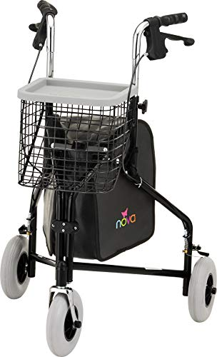 NOVA Medical Products Traveler 3-Wheel Walker, Black