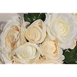 YJYdada Rose Fake Silk Flower Leaf Artificial Wedding Decor Bridal Bouquet Party Home Decorations 21