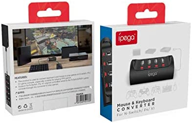 ElecGear - Adaptador de teclado y ratón compatible con PS4, XBox One y Nintendo Switch, conversor de controlador con cable USB intercambiable en consolas con función automática y turbo para juegos FPS: