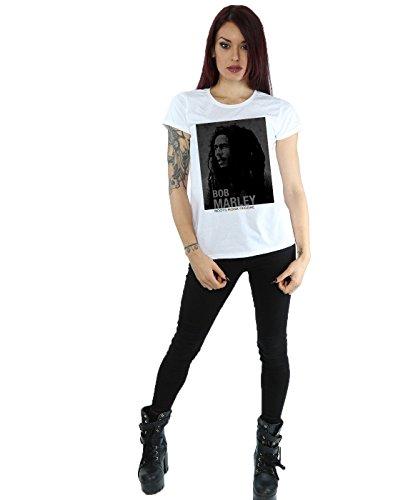 Reggae Roots Blanco Mujer Camiseta Rock Bob Marley 1qwnIxFEU