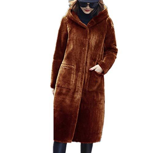 Vert Taille À Veste Cardigan Mode Poches Hiver Jaune Épais Blouson Trenche Fanessy Chaud Capuche En Coat Laine Femme Grande Marron Fourrure Manteau Parka Longue xPXq6B8