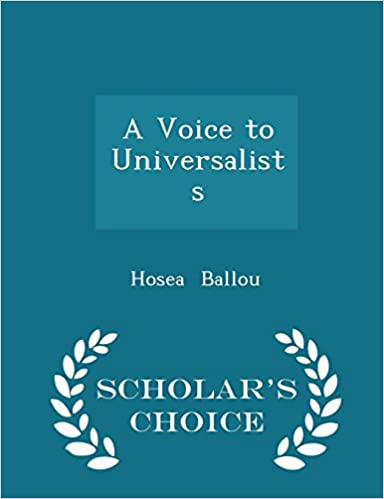 Book A Voice to Universalists - Scholar's Choice Edition