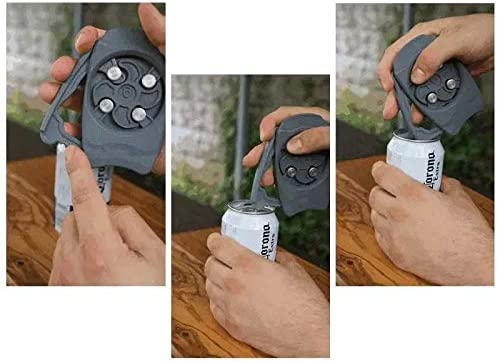 Safe and Easy Bar Tool for Kitchen Bar Go Swing Topless Can Opener Bottle Opener Party and Picnic