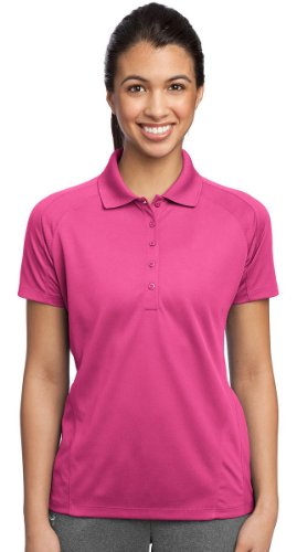 Sport Tek Mesh Shirt (Sport-Tek Women's Dri Mesh Pro Polo L Pink Raspberry)