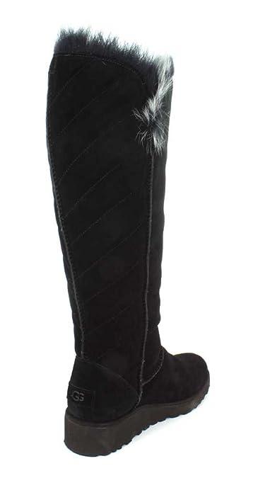 d57f3fbaa2a UGG Women's Rosalind Water-Resistant Suede Boot, 8, Black: Amazon.co ...