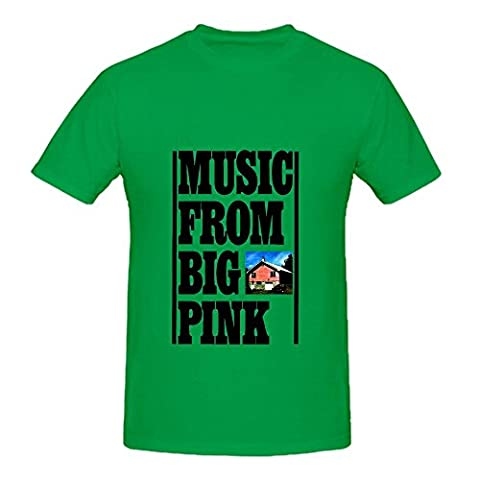 The Band Music From Big Pink Soundtrack Men Round Neck Custom Tee Green