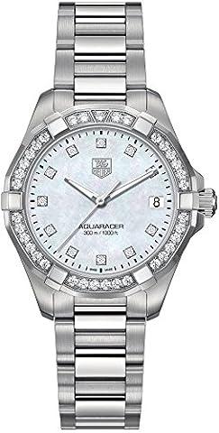 Tag Heuer Aquaracer 300M Women's Diamond Watch - WAY1314.BA0915 (Bezel Tag Heuer)