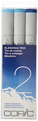 Copic Marker Sketch Blending Trio Markers, SBT 2, 3-Pack ()