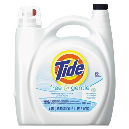 Tide free and gentle liquid laundry detergent 96 use 150 fl oz ()