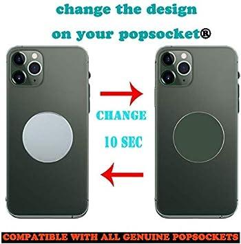 FTYSXP pour Pop Out Phone Grip et Stand Support de t/él/éphone Portable Couvercle Interchangeable en m/étal Top Compatible avec Original Pop Grip, 9pack