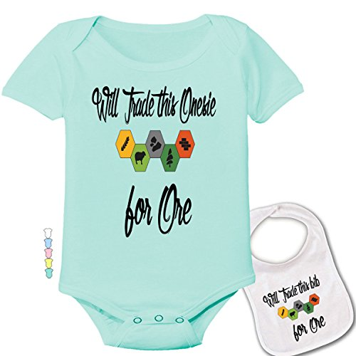 Price comparison product image Will Trade This Onesie for Ore -Cute Settlers of Catan Baby Bodysuit & bib