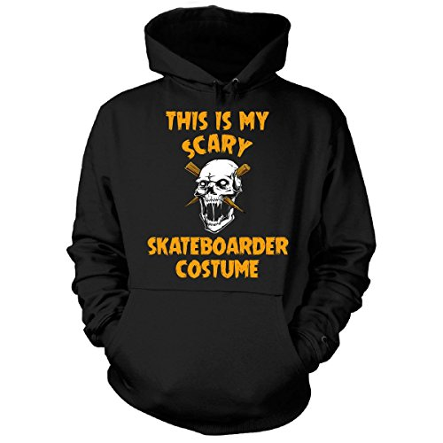 [This Is My Scary Skateboarder Costume Halloween Gift - Hoodie Black L] (Skateboarder Costume)