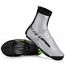 RockBros Waterproof Cycling Overshoes High Reflective Thermal Shoes Covers Fleece