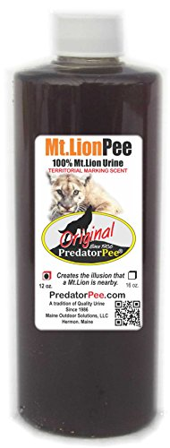 Predator Pee  100% Pure Mt Lion Urine  12oz Squeeze Bottle