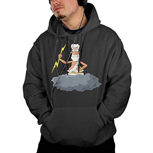 (Adult A Man with A Lightning Bolt Hoodie Sweatshirts Hooded Tee-Shirt)