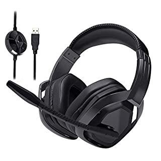 AmazonBasics USB Pro Gaming Headset with Microphone for PC, Black