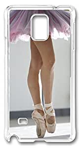 Ballet Dancer DIY Hard Shell Transparent Best Fashion Samsung Galaxy Note 4 Case