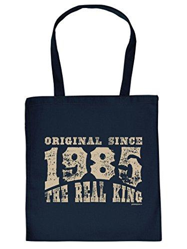lustige Tasche zum 33 Geburtstag Original Since 1985 The Real King Geschenk 33. Geburtstag 33 Jahre Geburtstagsgeschenk